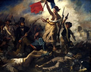 Painting of Liberte leading the French Revolution